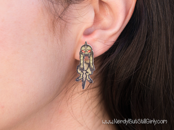 Cryptozoology (Chupacabra) Cling Earring