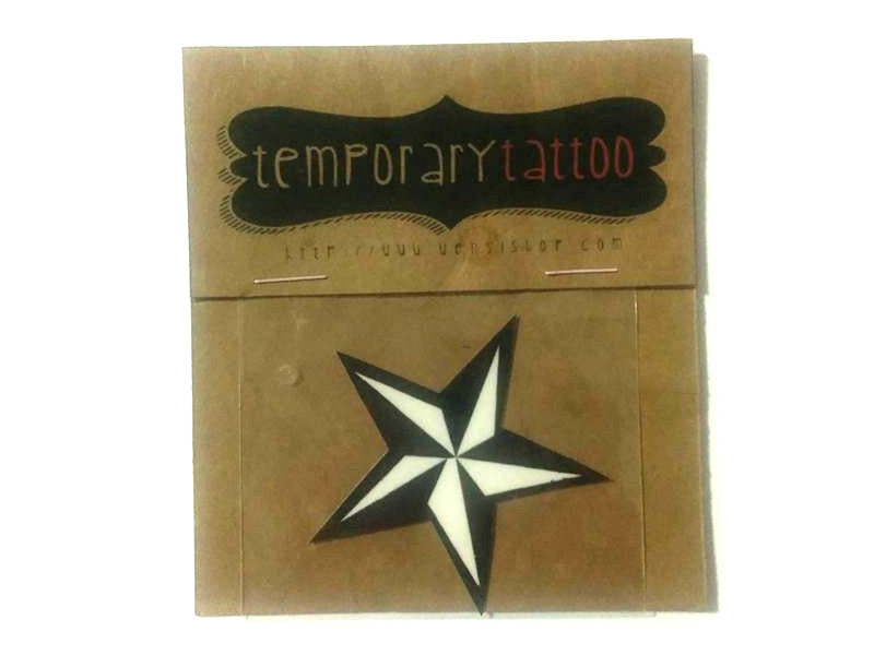 Punk Star Temporary Tattoo