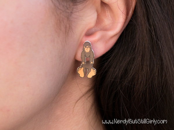 Cryptozoology (Bigfoot) Cling Earring