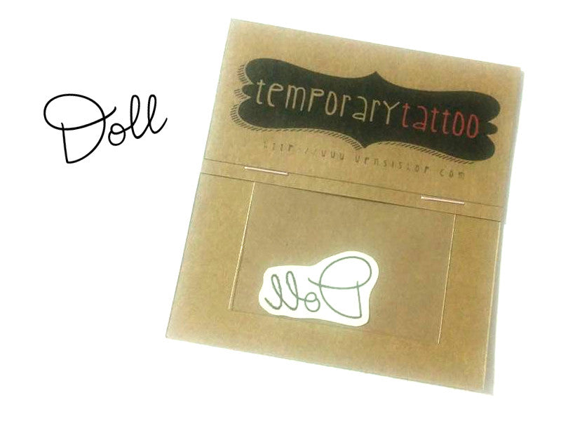 Doll Temporary Tattoo