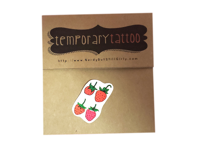 Strawberry Fields Forever Temporary Tattoo