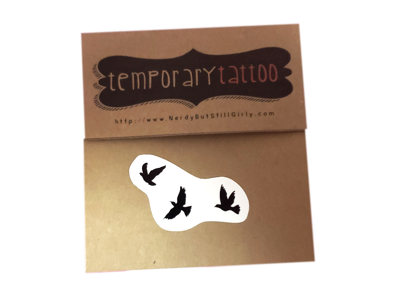 Fly Away Temporary Tattoo