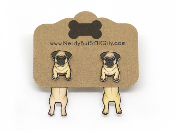 Dog (Pug) Cling Earring