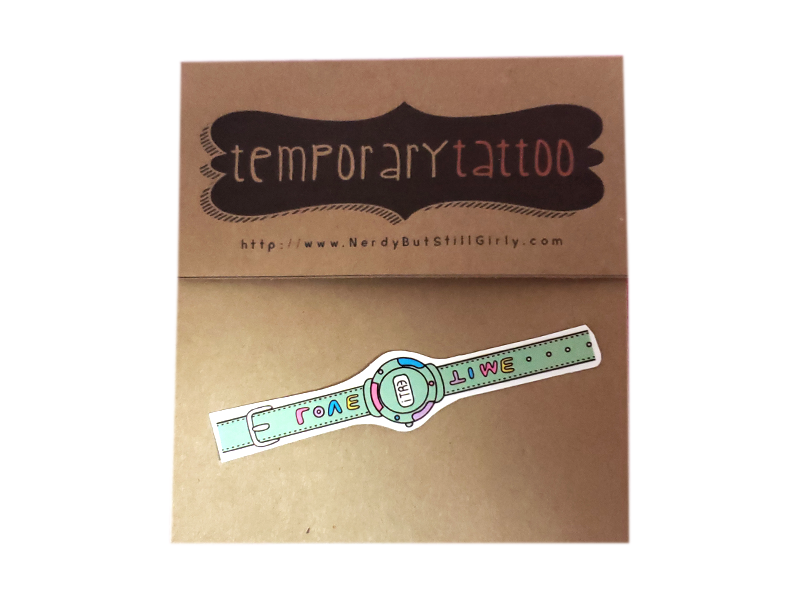 Watch Temporary Tattoo