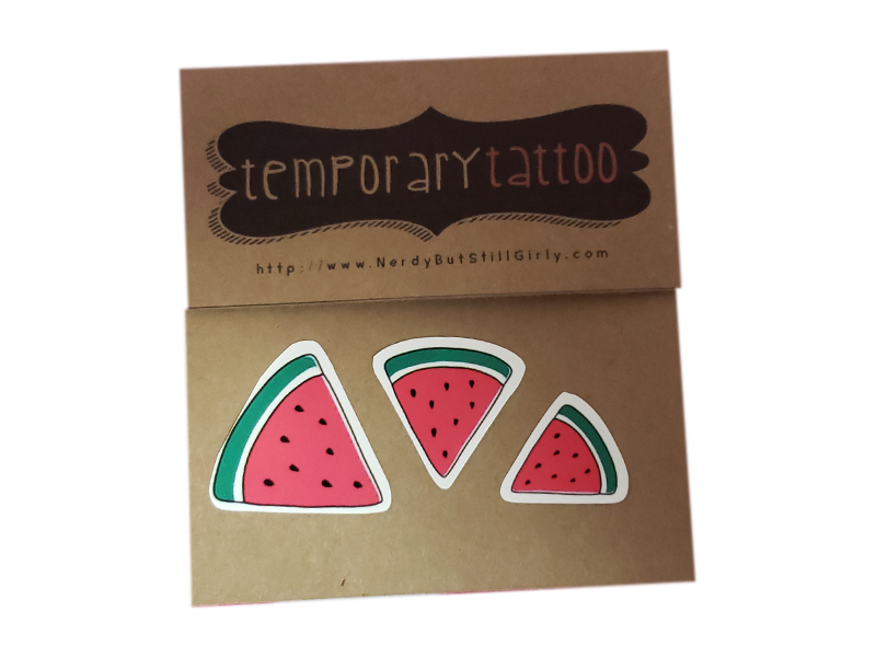 Watermelons Temporary Tattoo