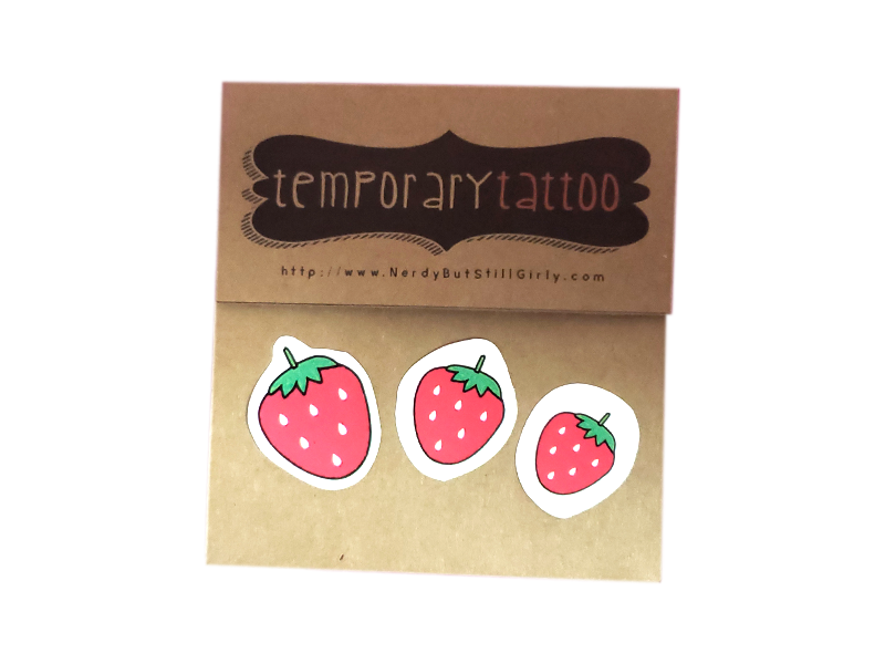 Strawberries Temporary Tattoo