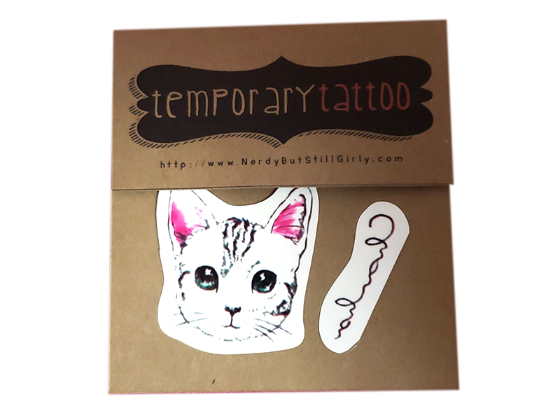 Kitty Temporary Tattoo