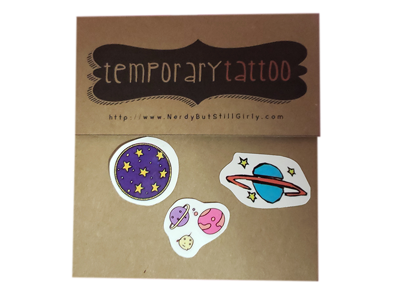 Planets Temporary Tattoo