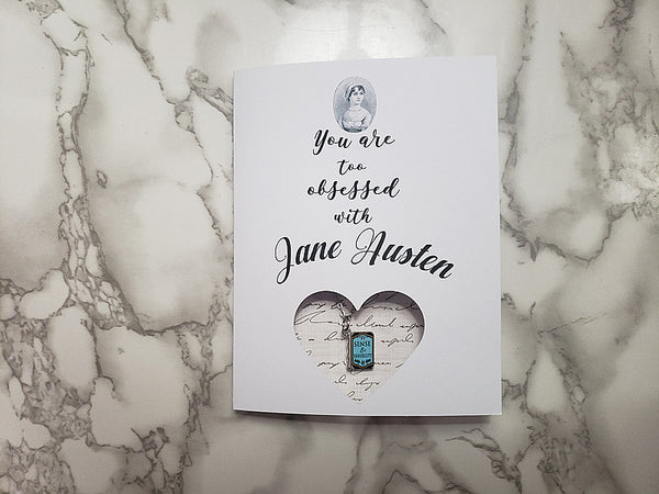 You are too obsessed with Jane Austen (Sense and Sensibility Book Necklace)