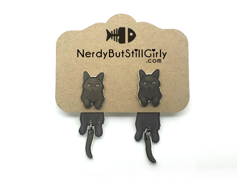 Cat American Shorthair (Jeebez Black) Cling Earring