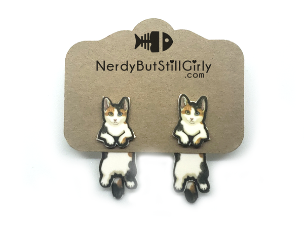 Cat Japanese Bobtail (Lucky) Cling Earring