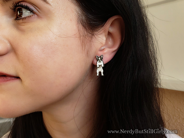 French Bulldog Cling Earring