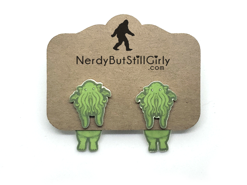Cryptozoology (Cthulhu) Cling Earring