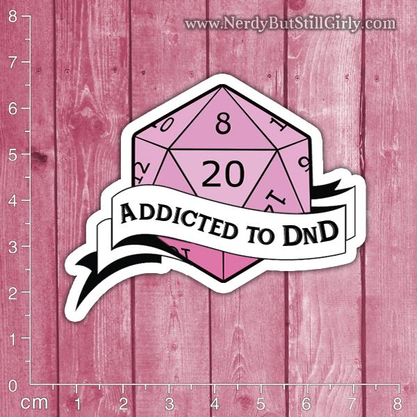 DnD (Addicted) Vinyl Sticker