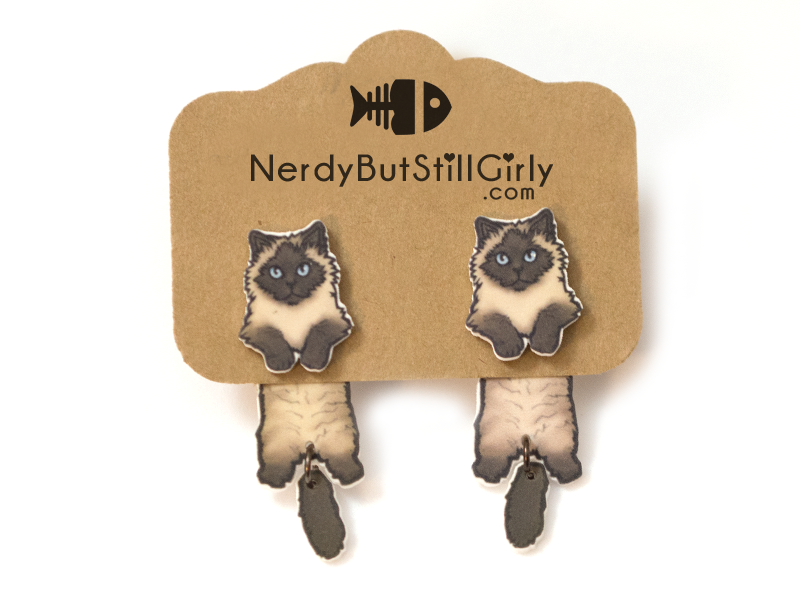Cat Himalayan (Jinxie) Cling Earring