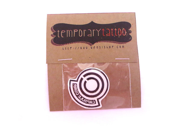 Capsule Corp Temporary Tattoo