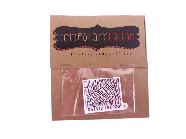 Invaild Barcode Temporary Tattoo