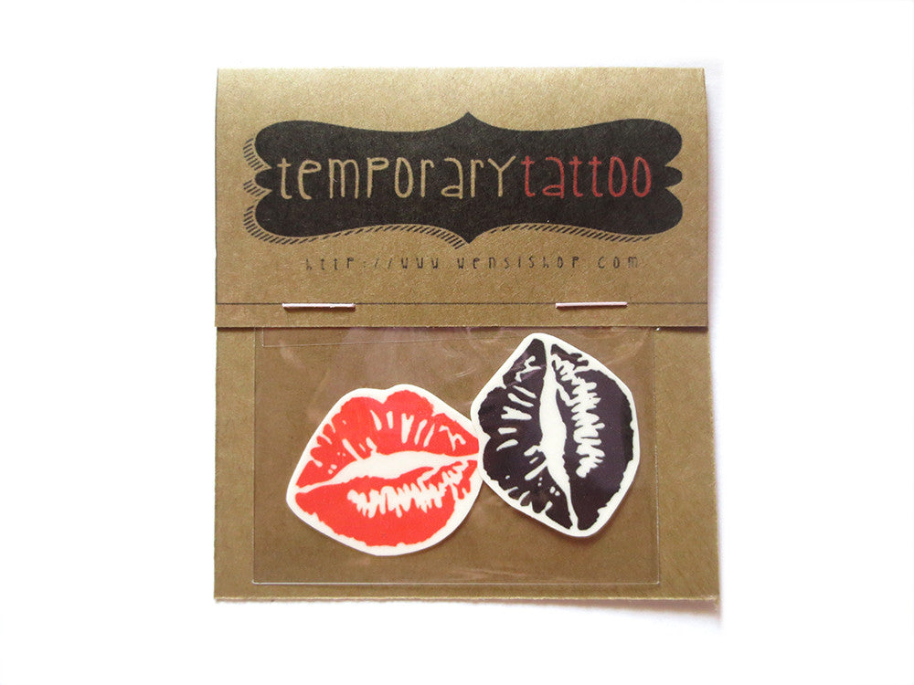 Kiss Kiss Temporary Tattoo