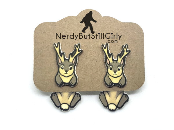 Cryptozoology (Jackalope) Cling Earring