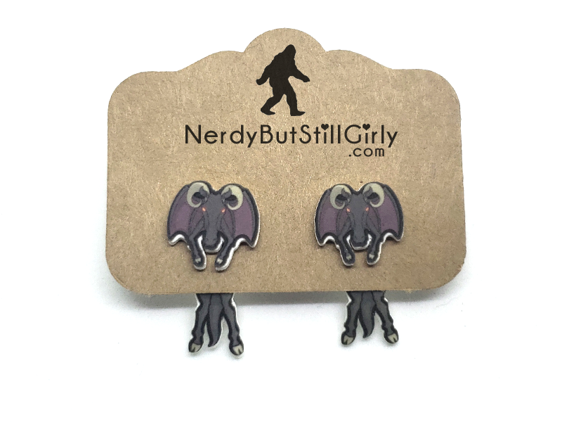 Cryptozoology (Jersey Devil) Cling Earring