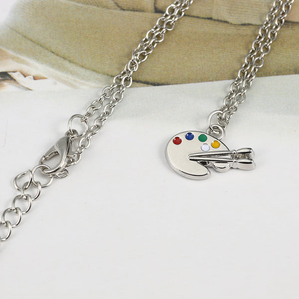 You are too obsessed with Art (Paint Palette Necklace)