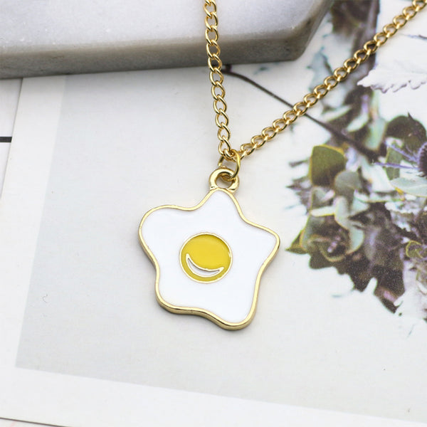 You are too obsessed with Brunch (Sunny-side Up Necklace)