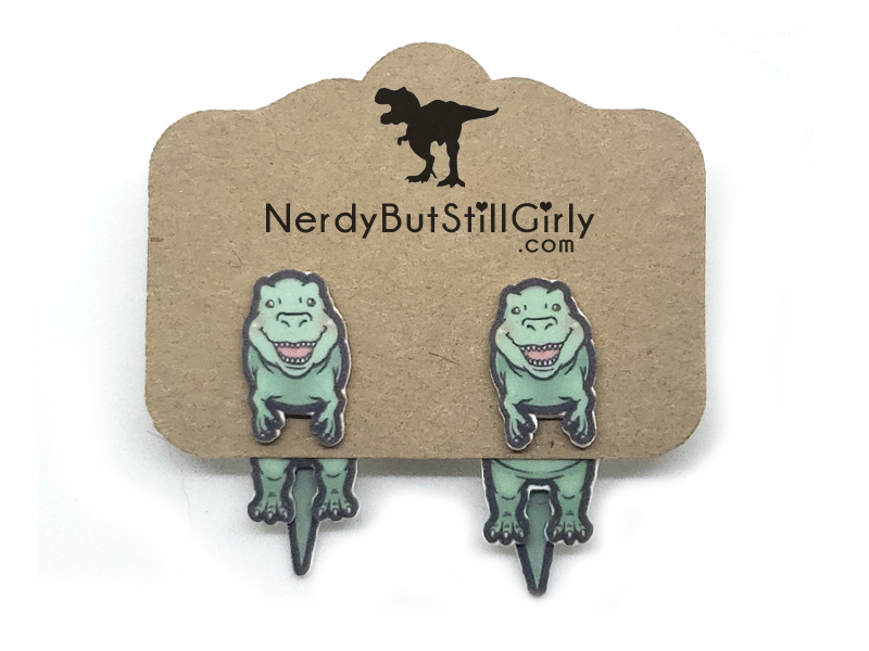 T. Rex Cling Earrings