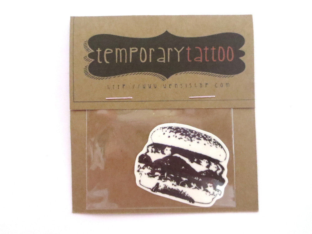 Burger Temporary Tattoo