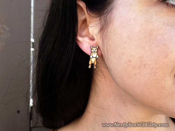 Corgi (Yellow) Cling Earring