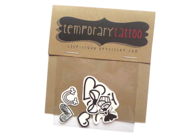 Random Cute Tats Temporary Tattoo