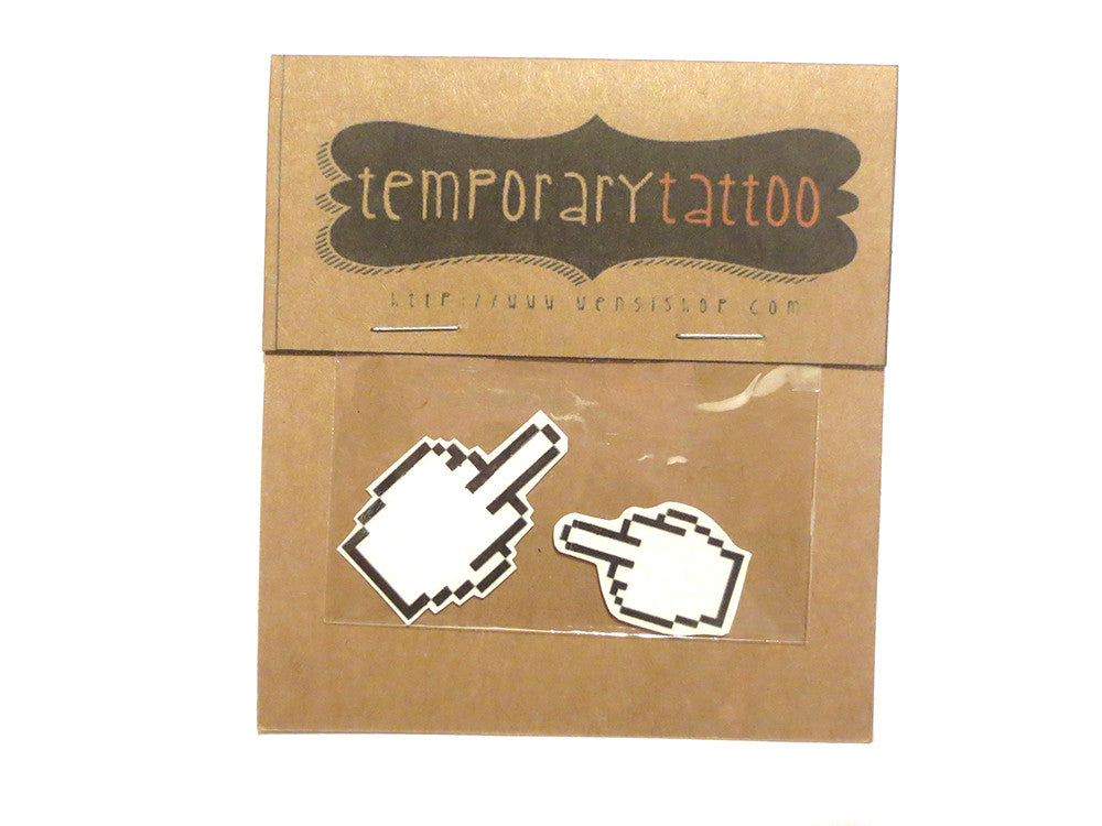 Digital FU Temporary Tattoo