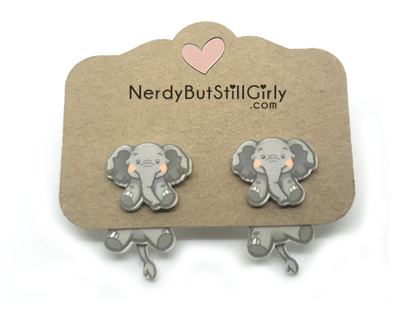 Elephant Cling Earrings