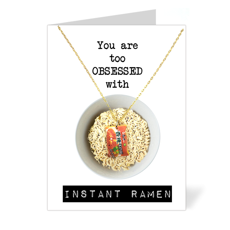 You are too obsessed with Instant Ramen (Instant Noodles Necklace)
