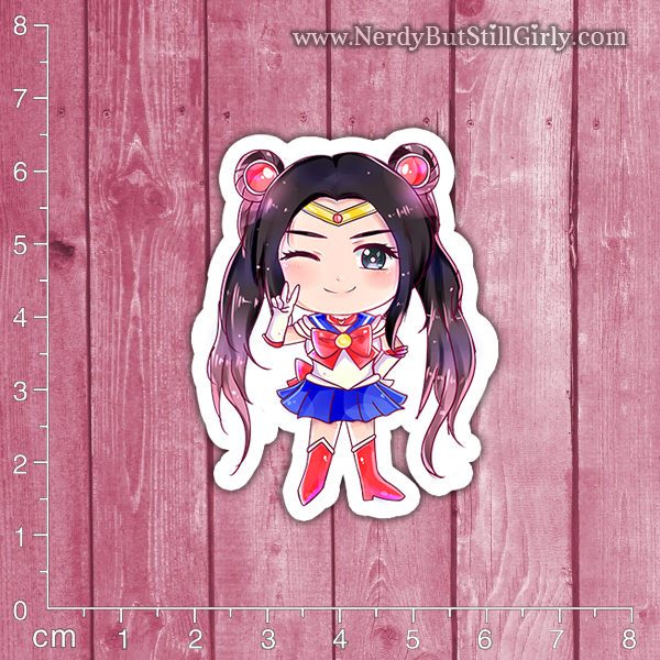 MizzShellz (Sailor Scout) Vinyl Sticker