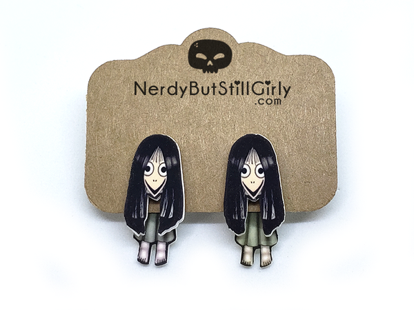 CreepyPasta (The MOMO Challenge) Cling Earring