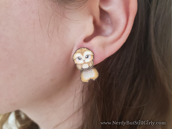 Owl Cling Earrings