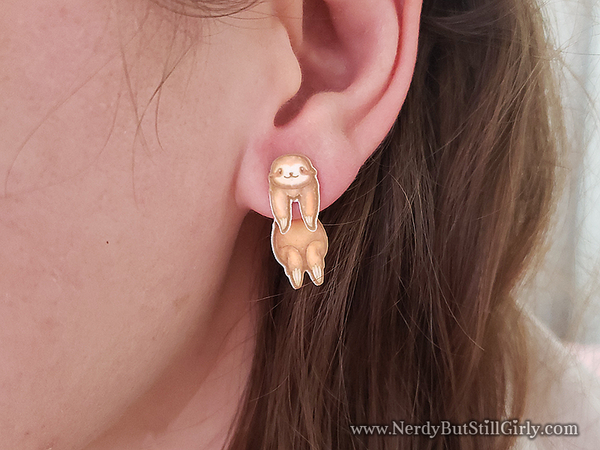 Sloth Cling Earring