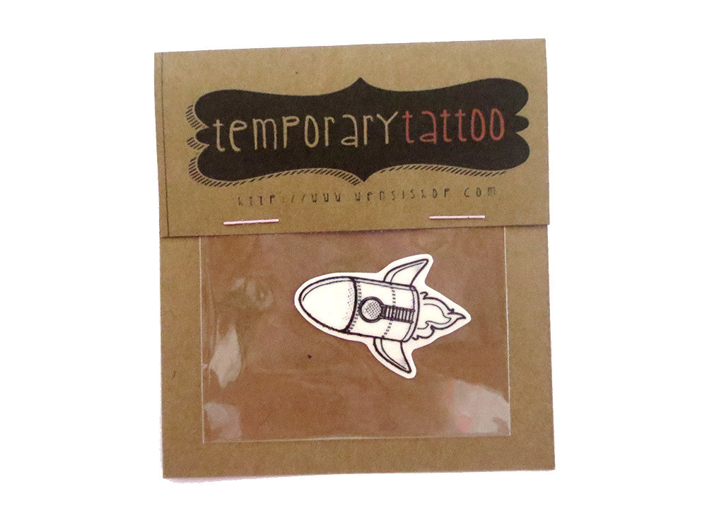 Space Rock Kid Temporary Tattoo