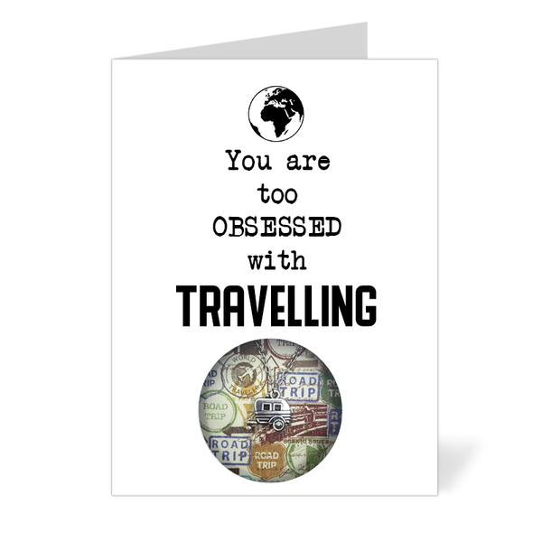 You are too obsessed with Travelling (Camper Van Necklace)