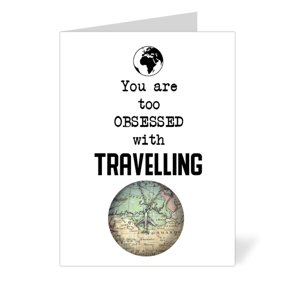 You are too obsessed with Travelling (Airplane Necklace)