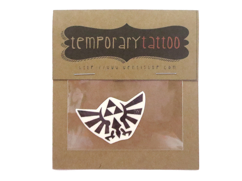 Triforce Wings Temporary Tattoo