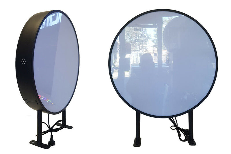 Vacuum Form Black Round LED Light box