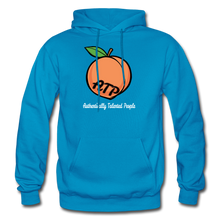 Load image into Gallery viewer, Adult Peach Hoodie - turquoise