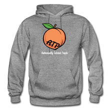Load image into Gallery viewer, Adult Peach Hoodie - graphite heather