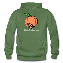Load image into Gallery viewer, Adult Peach Hoodie - military green