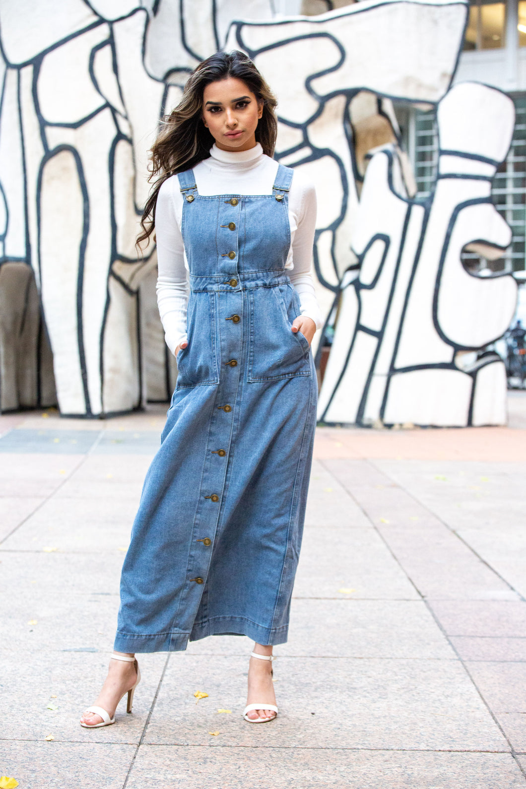 MB Denim Maxi Overalls