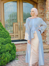Load image into Gallery viewer, Grey Floral Abaya