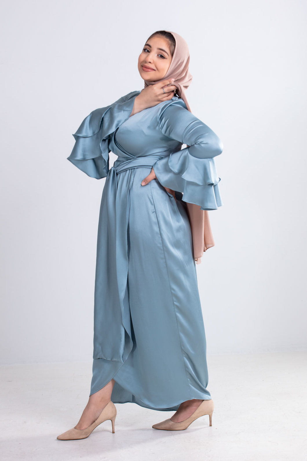 Melana Satin Blue