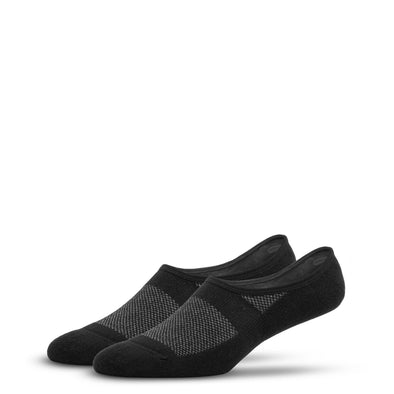 MEN'S SILVER NO SHOW SOCKS | BLACK