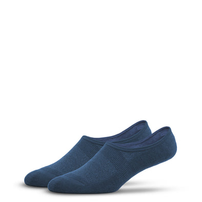 MEN'S SILVER NO SHOW SOCKS | DENIM BLUE